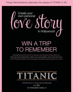 THINGS REMEMBERED HOLLYWOOD TOUR SWEEPSTAKES