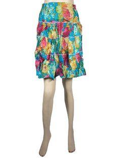 "Retro Mini Skirt Bohemian Gypsy Blue Red Printed 3 Tiered Cotton Miniskirt for Women 20"" Mogul Interior, http://www.amazon.com/dp/B009JAOBWA/ref=cm_sw_r_pi_dp_FgSzqb0HFAP80$16.50"