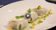 Voorgerecht - Pittige ravioli met gele paprikamayonaise