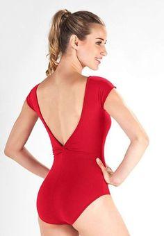 SD764 - COLLANT suplex decote V torcido costas flamenco ballet - RIATITÁ