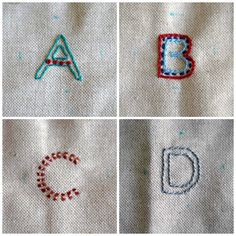 Deshilachado: Abecedario bordado / Embroidered alphabet
