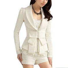 Amazon.com: Allegra K Ladies Shawl Collar Long Sleeve Hook Closure Blazer Jacket: Clothing