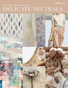 Delicate Neutrals – Colour Trends – Spring/Summer 2019 – Soft Neutrals / Pastel Shades / Pale on Pale / Natural Colour / Muted Texture / Faded Softness / Delicate Spring Fashion Trends, Summer Trends, Fashion Colours, Colorful Fashion, Color Trends 2018, Fashion Forecasting, Design Trends, Print Patterns, Textiles