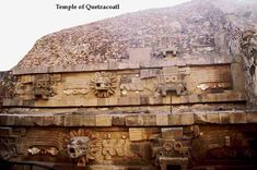 Quetzalcoatl developed into the patron god of Aztec priesthood, learning and knowledge.  This is the temple of Quetzalcoati