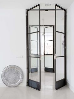 Black steel pane doors