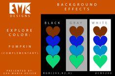 "Eva Maria Keiser Designs: Explore Color Background Effects: ""Pumpkin"" (Compl..."