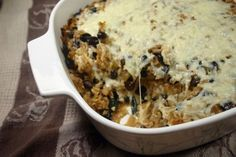 Black Beans and Rice Casserole | Diabetic Foodie