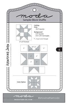 Make a Quilt with MODA's Sampler Block Shuffle!   Fiddlehead Artisan Supply Blog