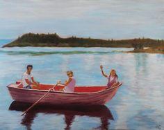 """Maleri af Annemarie Elal """"Norge"""" 2016. Akryl på lærred 60 × 80"""