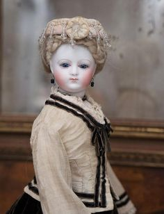 """14"""" (35 cm) Rare Antique French Fashion Parisienne Poupee Doll from from respectfulbear on Ruby Lane"""