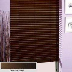 Wooden blinds- Online wooden venetian blinds, 25mm, 35mm, 50mm wood slat venetian blind, a wood blind at a great price. Buy made to measure ...
