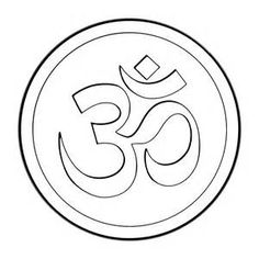 Om Symbol Coloring Pages T Shirt Painting, Dot Painting, Free Coloring Pages, Coloring Books, Namaste, Om Art, Symbol Drawing, Tanjore Painting, Om Symbol