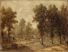 source: http://www.wga.hu  ROUSSEAU, Theodore (b. 1812, Paris, d. 1867, Barbizon)  Landscape with a Bridge 1850-52 Oil on panel, 28 x 36 cm The Hermitage, St. Petersburg