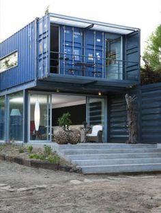 metallisch fassade treppe außenbereich extravagant container