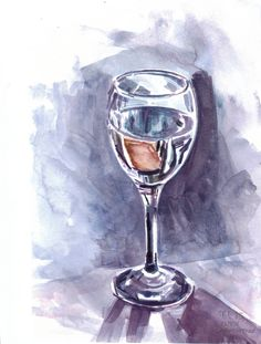 #paintseptember Wine glass of water. 30 min watercolour study. 23/9/13