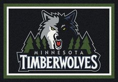 Minnesota Timberwolves area rugs. Get in the game and show pride in your NBA team with Milliken's TeamMats collection of 50 NBA mascots and insignias. Milliken mats are made of 100% nylon pile and injected with colorfast dyes throughout to make them both durable and beautiful. All mats are proudly made in the USA. Select your NBA team and order from Floors To Go through our easy PayPal shopping cart system where you can pay by credit card or with your PayPal account.