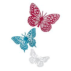 Butterfly Home by Matthew Williamson Designer turquoise metal cutout butterfly | Debenhams