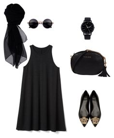 """""""All blacks"""" by pato-bb on Polyvore featuring Gap, Versace, Michael Kors and KOCCA"""
