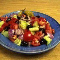 Salada grega autêntica, Receita Petitchef