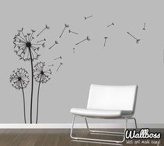 Dandelion Wall Decal Wall Stickers Blowing Away In by Wallboss