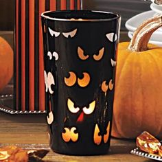 spooky eyes votive holder from partylite look out someones watching you candlelight makes