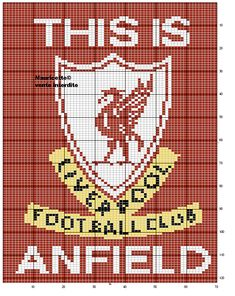 sport - football - liverpoll - point de croix - cross stitch - Blog : http://broderiemimie44.canalblog.com/