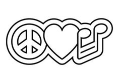 Peace and Love Music Symbol