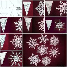 How to make Snowflakes of Paper step by step DIY tutorial instructions, How to, how to do, diy instructions, crafts, do it yourself, diy website, art project ideas