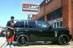 Jimmy Smith and his Range Rover #ravens #jimmysmith #black #rangerover #in_style