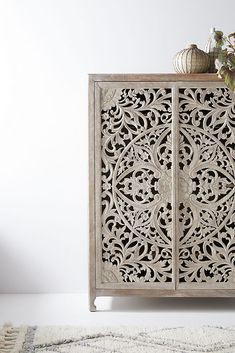 Lombok Armoire by Anthropologie in Beige Size: All, Dressers Armoire Shabby Chic, Armoire Antique, Armoire Ikea, Shabby Chic Bedrooms, Shabby Chic Kitchen, Hanging Furniture, Unique Furniture, Diy Furniture, Lombok
