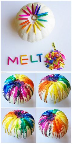 DIY Melted Crayon Pumpkin Tutorial from Crafty Morning. Make...