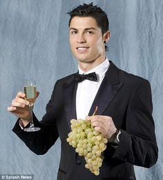 Cristiano Ronaldo with wine