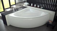Symetryczna MIA to luksusowa  wanna, gwarantująca maksymalny komfort kąpieli zarówno w pojedynkę, jak i we dwoje. Wkomponuje się w każde, nawet najbardziej wymagające wnętrze.