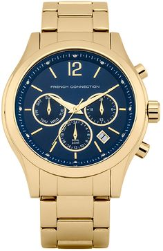French Connection, Gold Watch, Watches, Products, Wristwatches, Clocks, Gadget