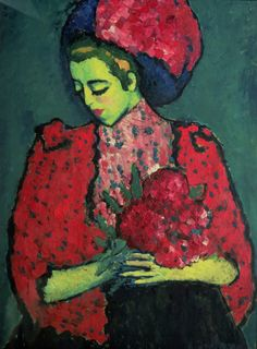 Alexej von Jawlensky - Girl with Peonies, 1909
