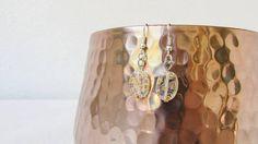 CLEARANCE Yellow glass earrings small dangle earrings