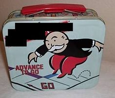 Monopoly lunch box. Classic!
