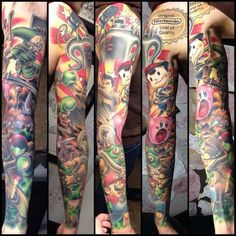 It is only fitting that gamer tattoos for men have become a popular choice. There are some things to consider when deciding on a video game tattoo. Gamer Tattoos, Tribal Tattoos, Tattoos Mandala, Tattoos Skull, Cartoon Tattoos, Tatoos, Nintendo Tattoo, Gaming Tattoo, Best Sleeve Tattoos