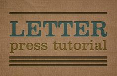 Letterpress Photoshop Tutorials | PSDDude