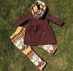 Fall Long Sleeve Aztec Tribal Indian Girls Tunic Boutique Ruffle Pant Set with Matching Scarf 2 through 7 Years by MadameSofiaBoutique on Etsy https://www.etsy.com/listing/242753115/fall-long-sleeve-aztec-tribal-indian