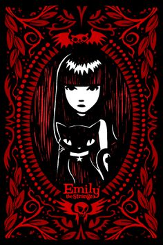 Find images and videos about emily the strange and this is a part of me on We Heart It - the app to get lost in what you love. Emily The Strange, Neko, Ruby Gloom, Goth Art, Bizarre, Glitter Graphics, Dark Gothic, Creepy Cute, Weird Art