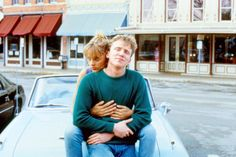 """Johnny Be Good"" movie still, 1988. L to R: Uma Thurman, Anthony Michael Hall."