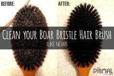 How to clean a Boar Bristle Brush – like new! | Just Primal Things