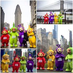 Teletubbies in NYC 20 years of Big Hugs #teletubbies20 #ad