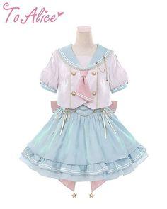 Kawaii Fashion, Lolita Fashion, Cute Fashion, Fashion Outfits, Pretty Outfits, Pretty Dresses, Cool Outfits, Kawaii Dress, Kawaii Clothes