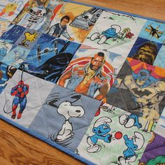 Vintage Cartoon Character I Spy Quilted Wall Hanging  Star by bibu, $125.00