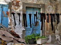 Monday . . .  washday . . . . in Greece.