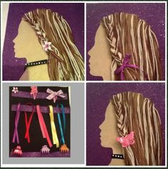 Hair styling quiet book