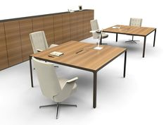 Rectangular meeting table MORE Estel Office Line by ESTEL http ...