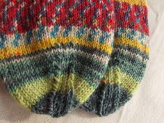 Art socks size 6 (EU-size 39) handknit made from multicoloured sockyarn dyed in colours after painting from Hundertwasser lovely material by PurpleValleyDesign on Etsy